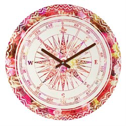Deny Designs Bianca Green Follow Your Own Path Pink Round Clock