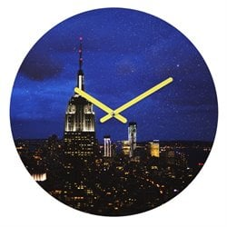Deny Designs Chelsea Victoria New York I Love You Again Round Clock
