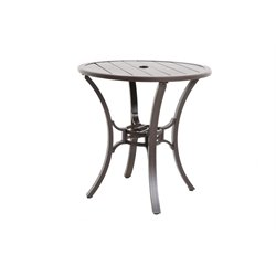 Riva Patio Round Pub Table in Gray
