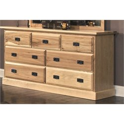 A-America Amish Highlands 7 Drawer Dresser in Natural