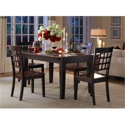 A-America Bristol Point Extendable Dining Table in Espresso