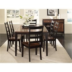 A-America Bristol Point Extendable Butterfly Dining Table in Espresso