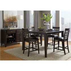 A-America Bristol Point Counter Height Dining Set in Warm Gray