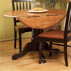 A-America British Isles Round Drop Leaf Dining Table