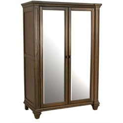 A-America Gallatin Wardrobe Armoire in Mahogany in Mahogany