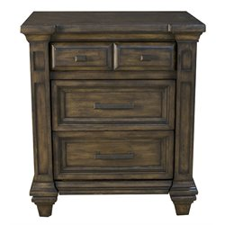 A-America Gallatin 3 Drawer Nightstand in Mahogany