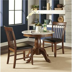 A-America Granite Convertible Dining Table in Brown