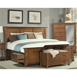 A-America Grant Park Panel Bed in Pecan