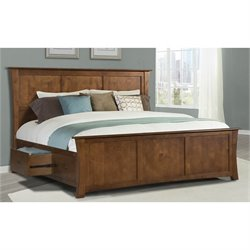 A-America Grant Park Panel Storage Bed in Pecan