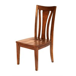 A-America Grant Park Slatback Dining Chair in Pecan