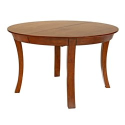 A-America Grant Park Oval Extendable Butterfly Dining Table in Pecan