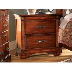 A-America Kalispell 2 Drawer Nightstand in Mahogany