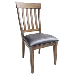 A-America Mariposa Slatback Dining Chair in Rustic Whiskey