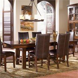 A-America Mesa Rustica Extendable Dining Table in Mahogany