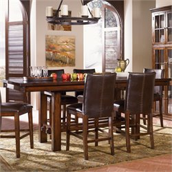 A-America Mesa Rustica Counter Height Dining Table in Mahogany