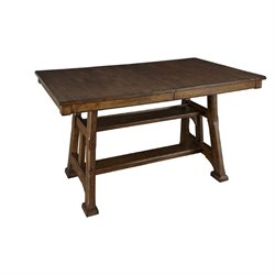A-America Ozark Counter Height Dining Table in Warm Pecan