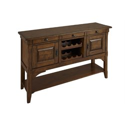 A-America Ozark Wine Rack Sideboard in Warm Pecan