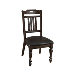 A-America Phinney Ridge Estate Slatback Dining Chair in Brown