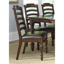 A-America Phinney Ridge Ladderback Dining Chair in Brown