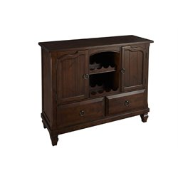 A-America Phinney Ridge Wine Rack Sideboard in Brown