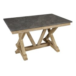 A-America West Valley Bluestone Dining Table in Rustic Wheat