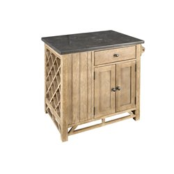 A-America West Valley Kitchen Island in Rustic Wheat