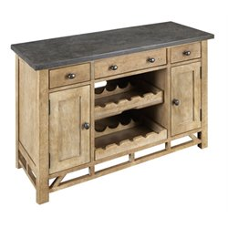 A-America West Valley Wine Rack Sideboard in Rustic Wheat