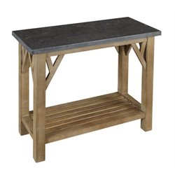 A-America West Valley Console Table in Rustic Wheat