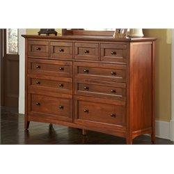 A-America Westlake 10 Drawer Master Dresser in Cherry Brown