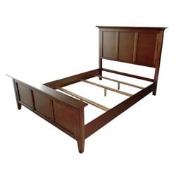 A-America Westlake Queen Panel Bed in Cherry Brown