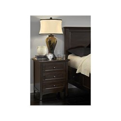 A-America Westlake 3 Drawer Nightstand in Dark Mahogany
