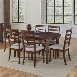A-America Westlake Oval Dining Set in Cherry Brown
