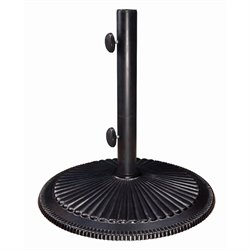 SimplyShade Coral Cast Iron Free Standing Umbrella Base in Black