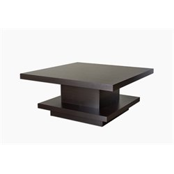 Furniture of America Carenza Square Coffee Table in Espresso