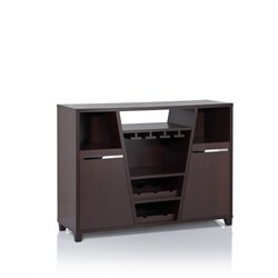 Furniture of America Luntex Wine Rack Buffet in Espresso