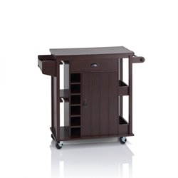 Furniture of America Frunter Kitchen Cart in Espresso