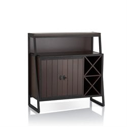 Furniture of America Darren Wine Rack Buffet in Walnut
