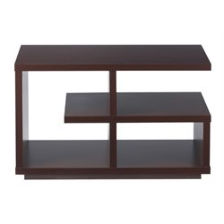 Furniture of America Torres Geometric End Table in Walnut