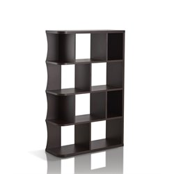 Furniture of America Charles Open Bookcase in Walnut