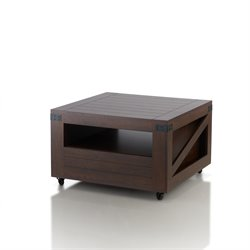Furniture of America Vernon Square Storage Coffee Table in Walnut