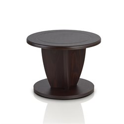 Furniture of America Menteli Round Coffee Table in Walnut