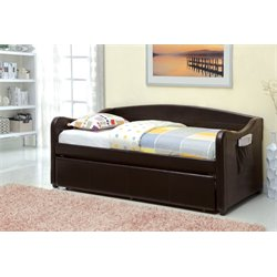 Furniture of America Warren Upholstered Platform Daybed with Trundle