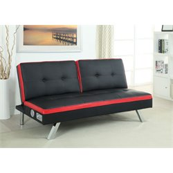 Dorla Faux Leather Sleeper Sofa Bed