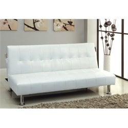 Hollie Faux Leather Convertible Sofa