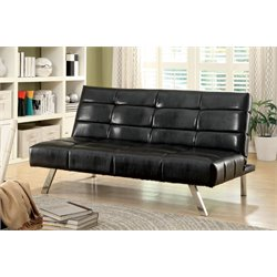 Furniture of America Malorie Tufted Faux Leather Sleeper Sofa Bed
