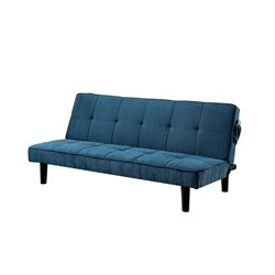 Cale Tufted Linen Convertible Sofa