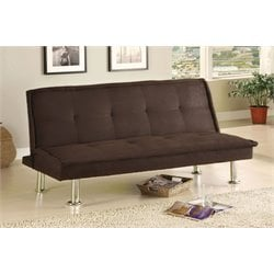 Furniture of America Ross Microfiber Sleeper Sofa Bed in Dark Espresso