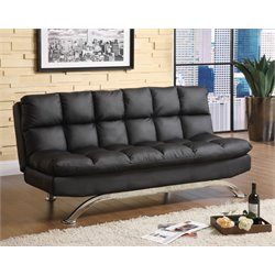 Preston Tufted Leather Convertible Sofa