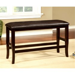 Furniture of America Kitner Counter Height Dining Bench in Wood