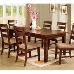 Furniture of America Nessa Extendable Dining Table in Antique Oak
